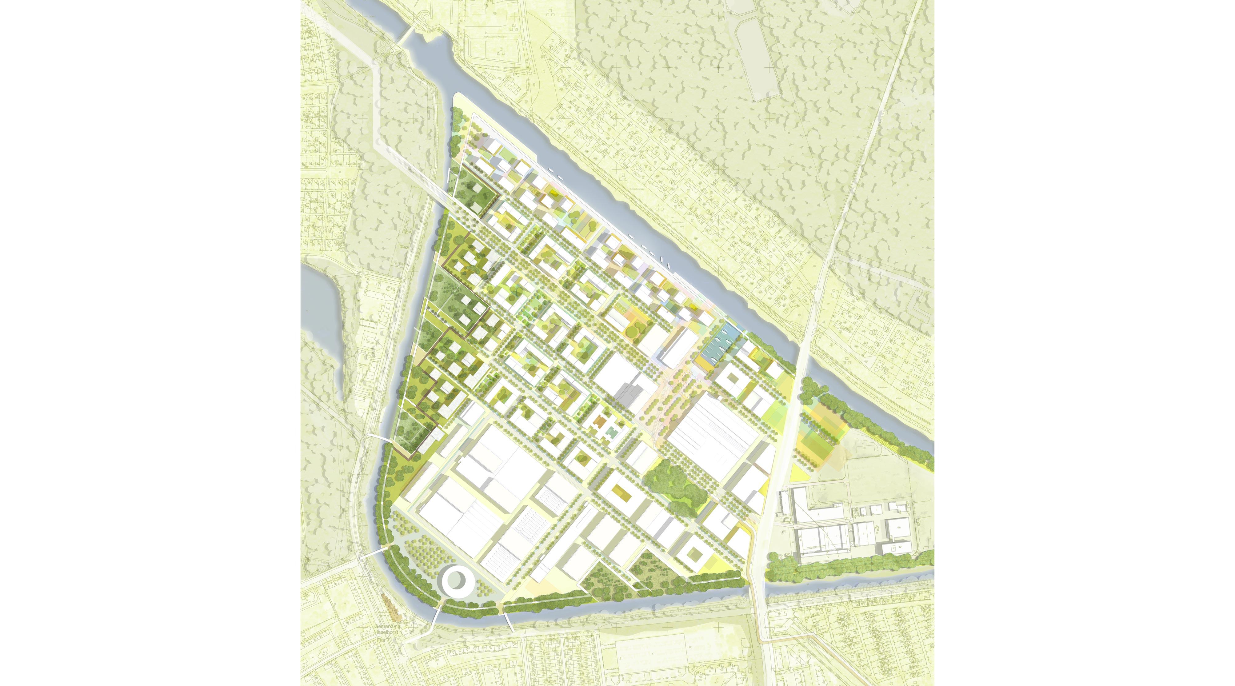 Das neue Gartenfeld Berlin Spandau Lageplan