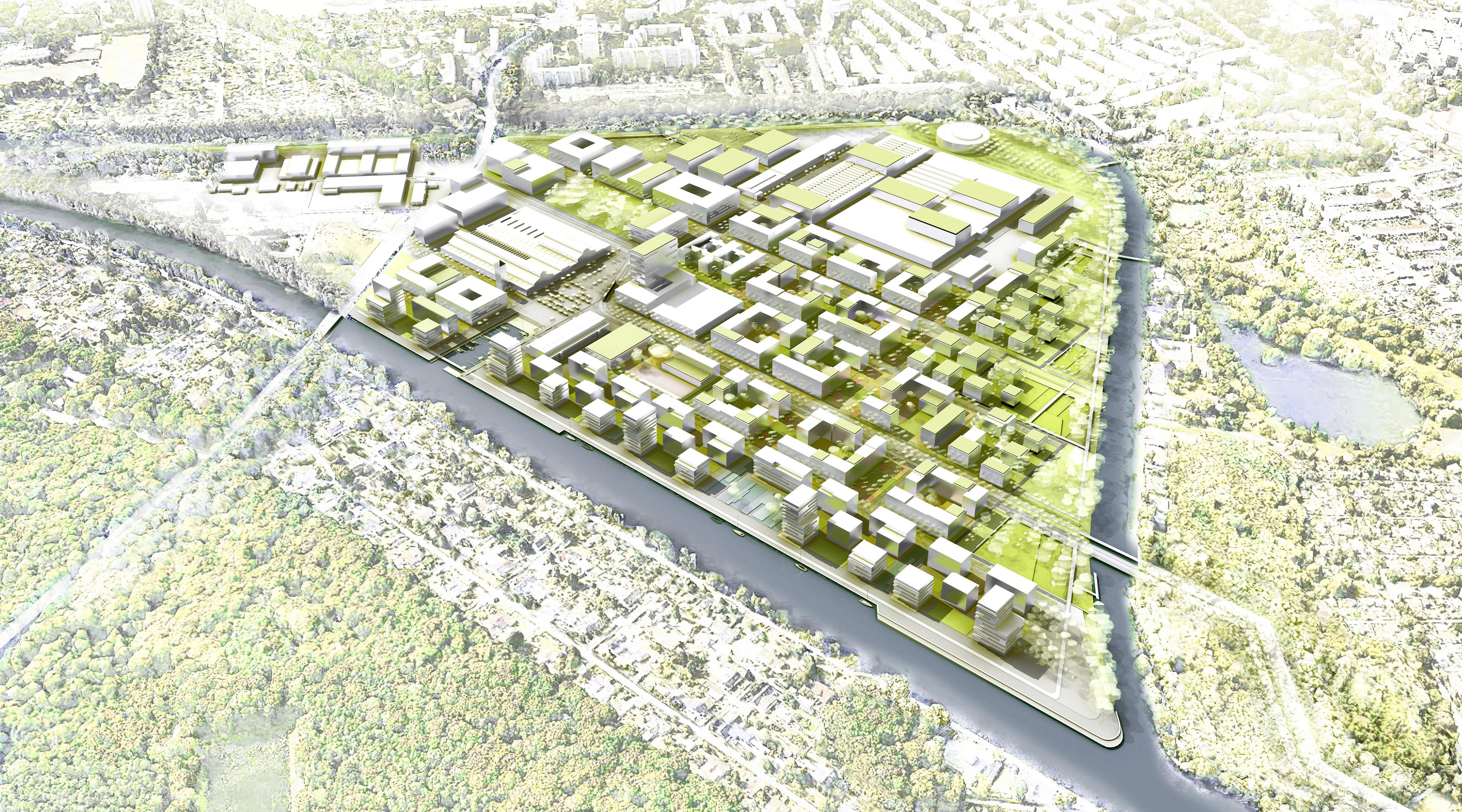 Das neue Gartenfeld Berlin Spandau Vogelperspektive