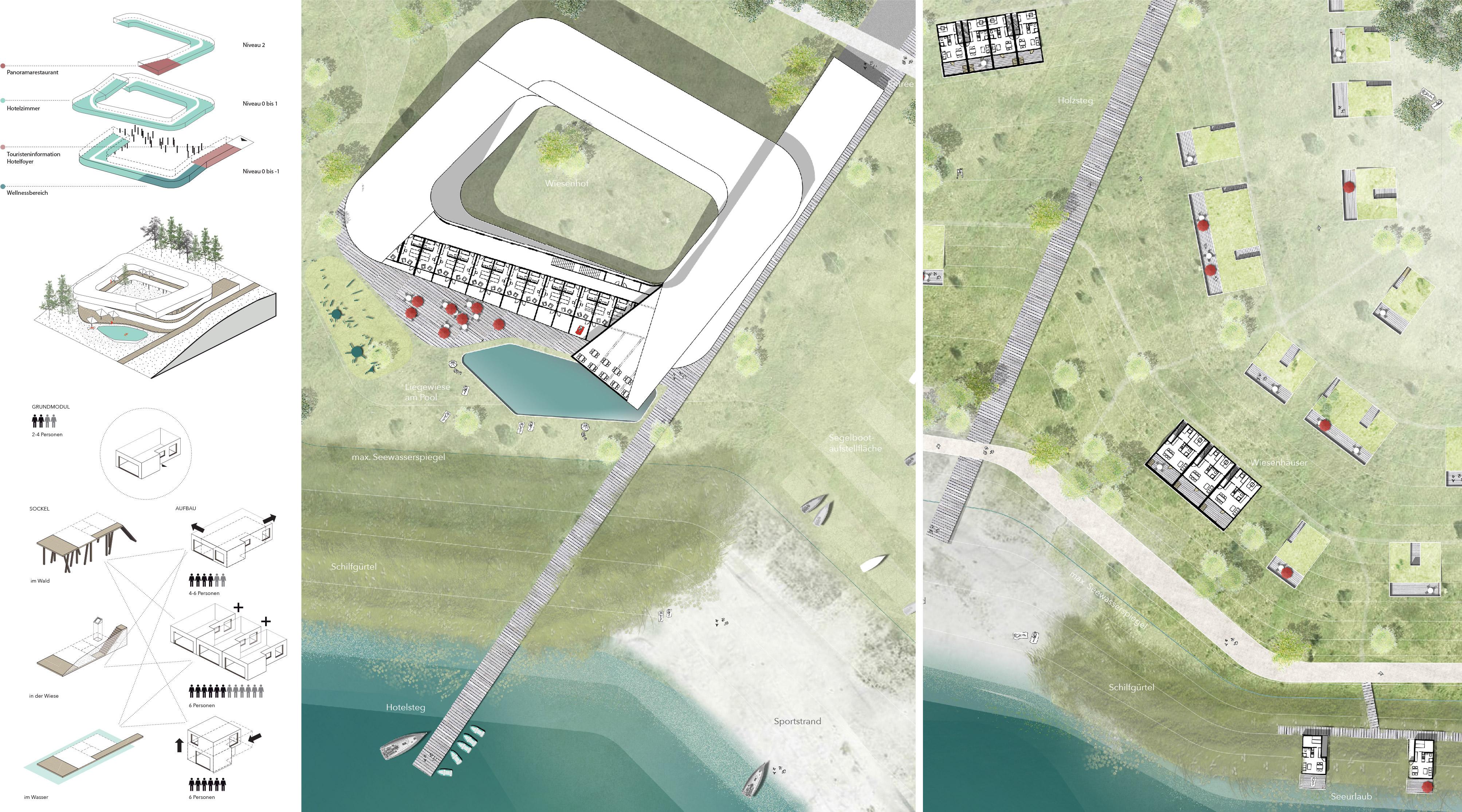 Zwenkauer See Nordufer Detail Lageplan
