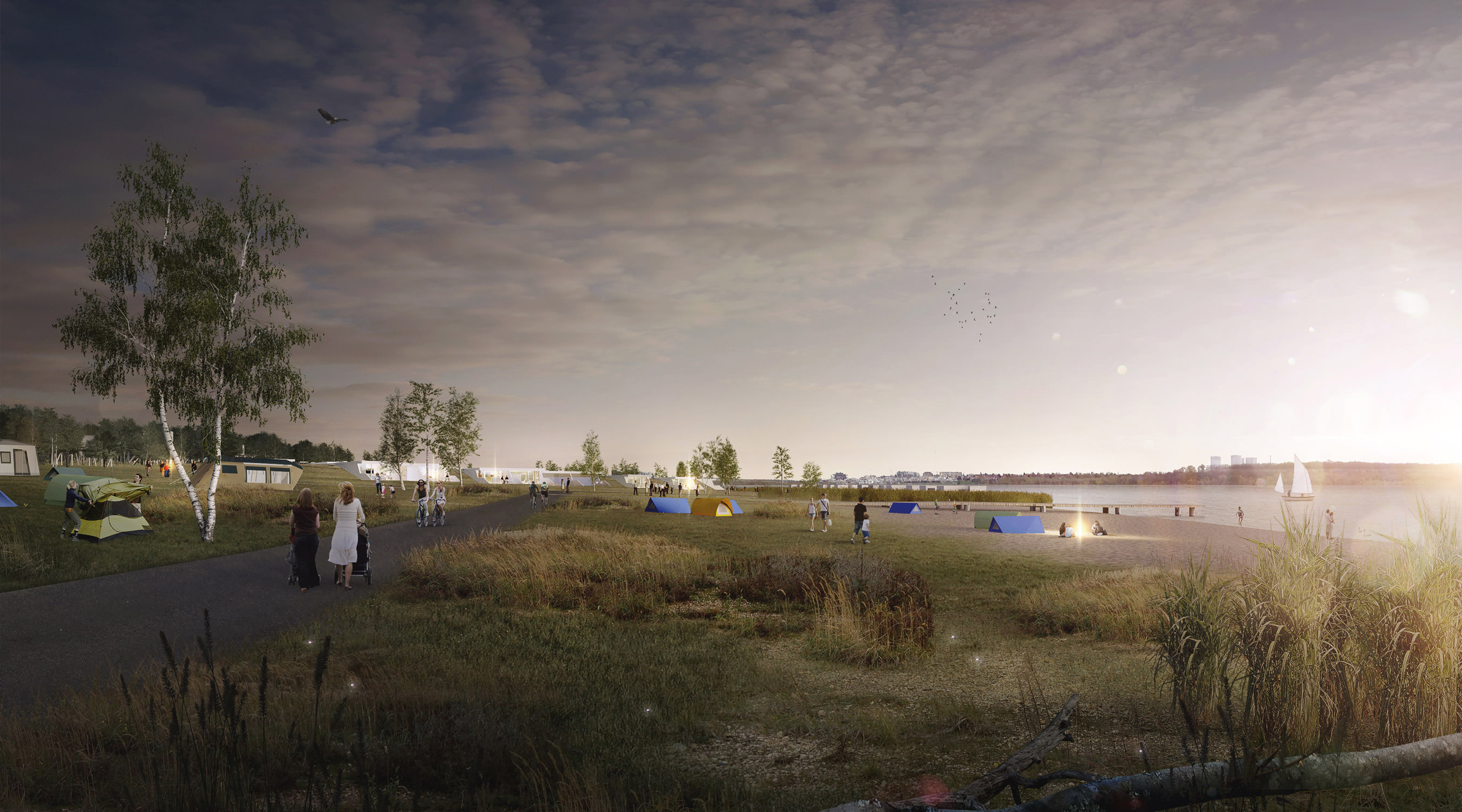 Zwenkauer See Nordufer Nachtperspektive