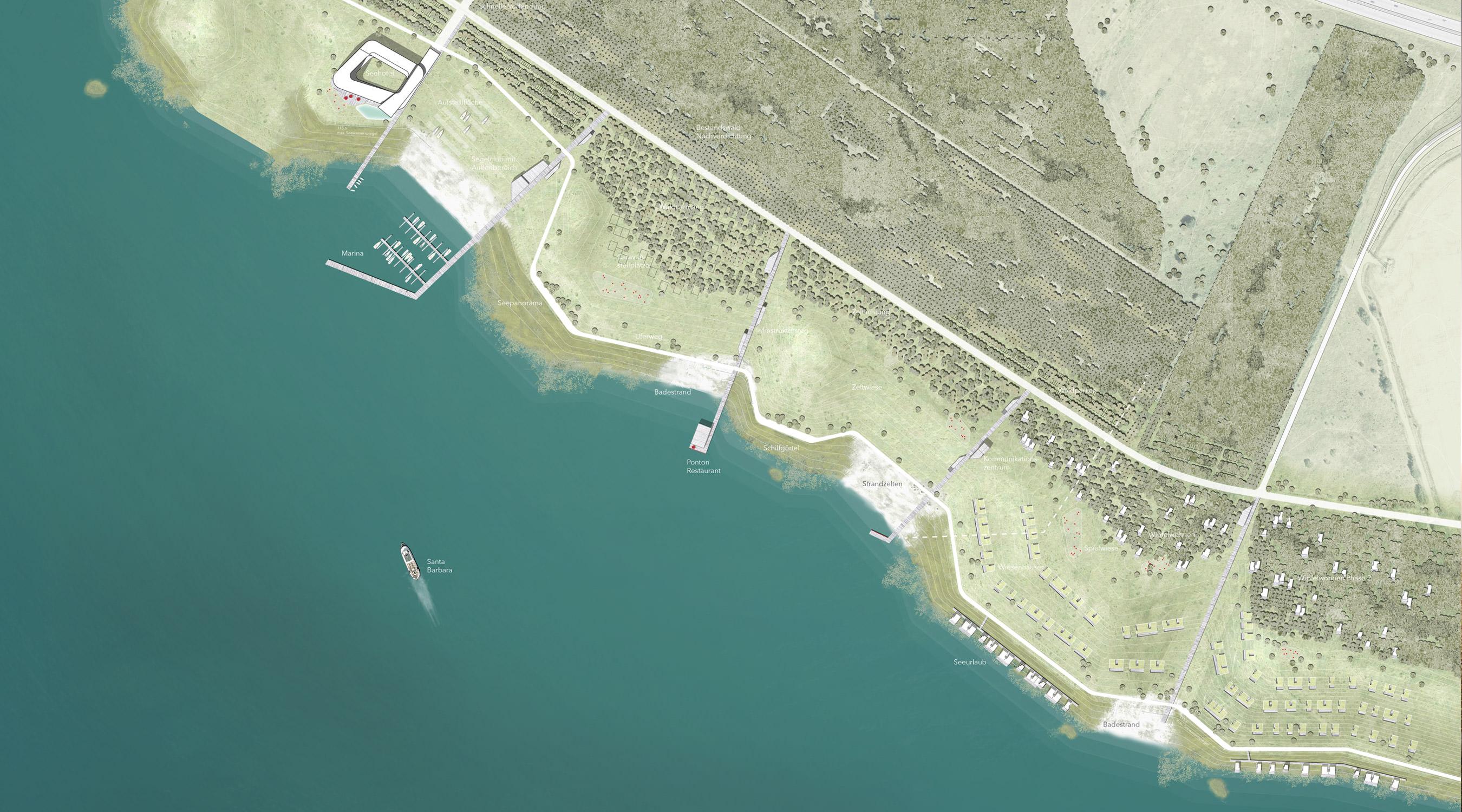 Zwenkauer See Nordufer Lageplan