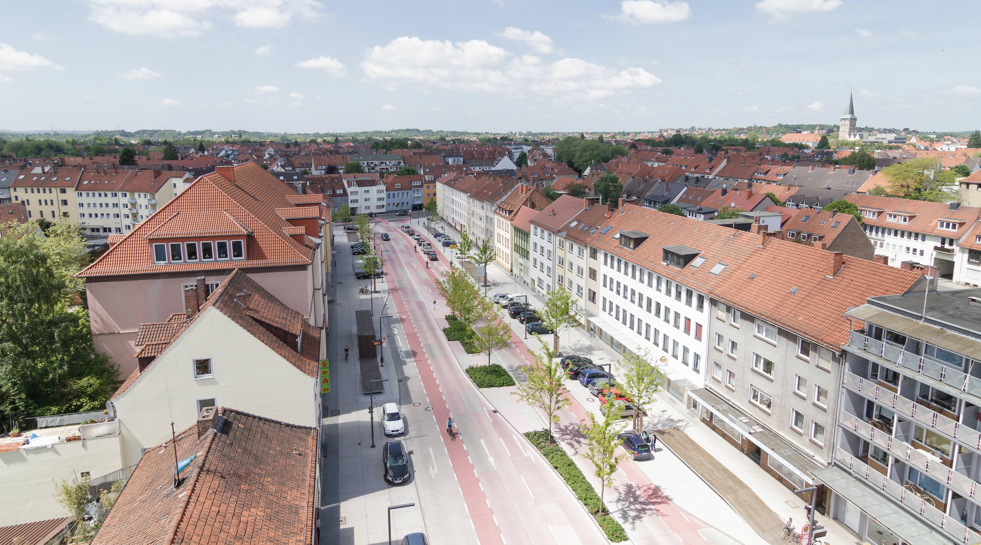 Rosenplatz Osnabrück von oben