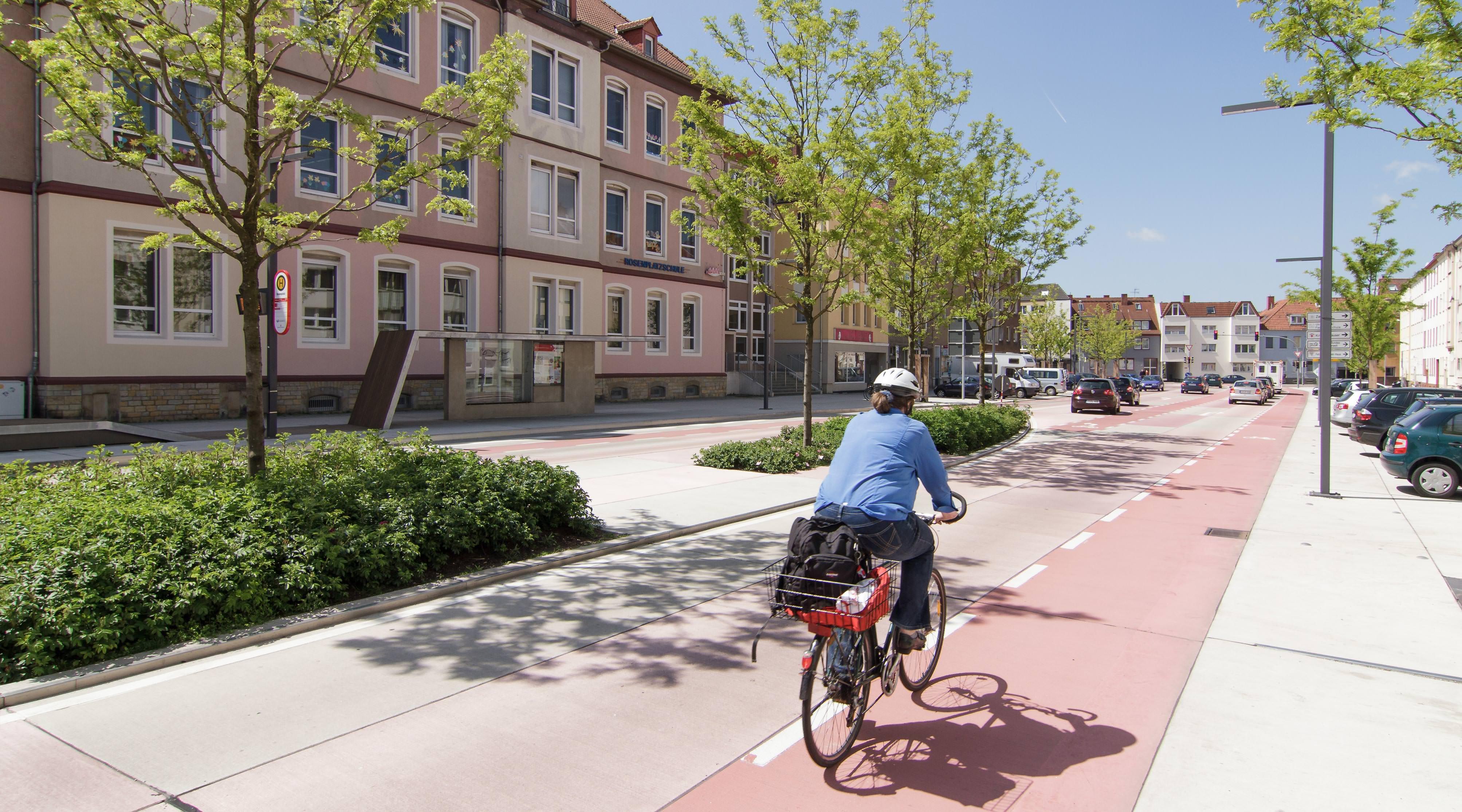 Rosenplatz Osnabrück Fahrradstreifen