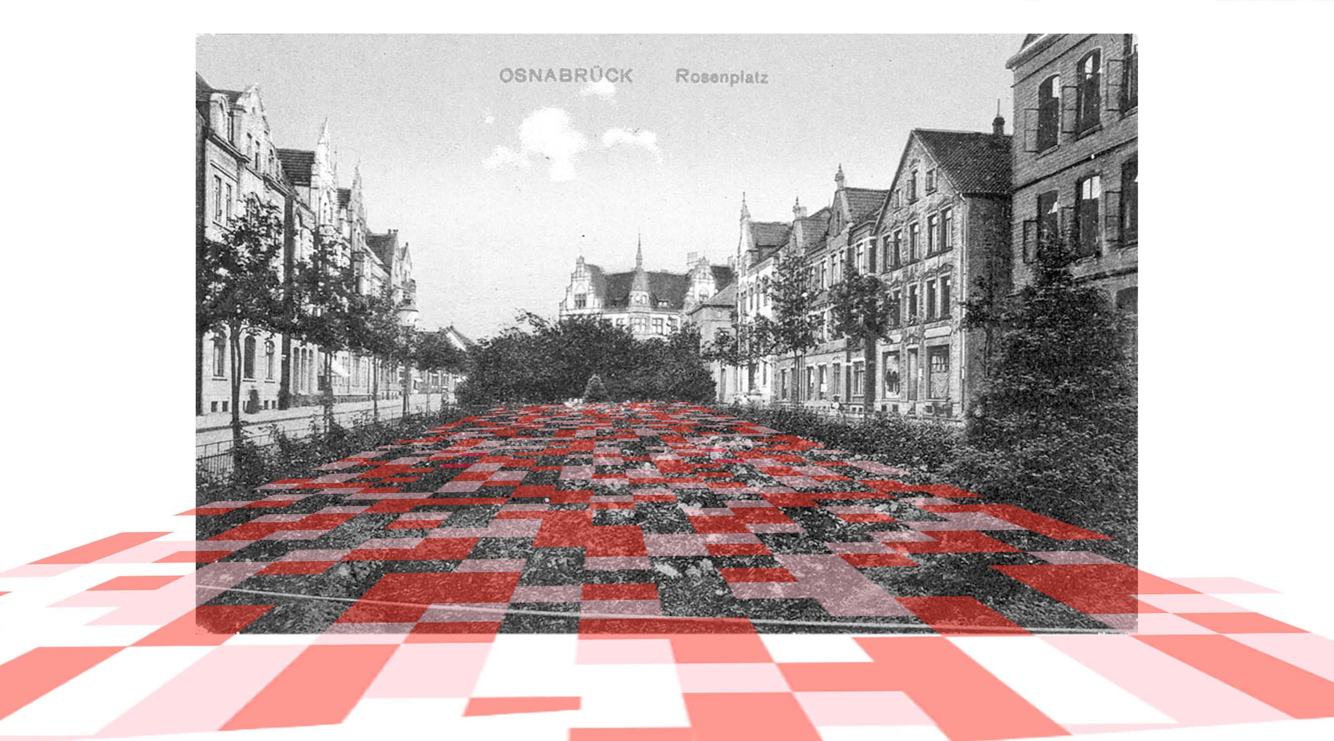 Rosenplatz Osnabrück Postkarte