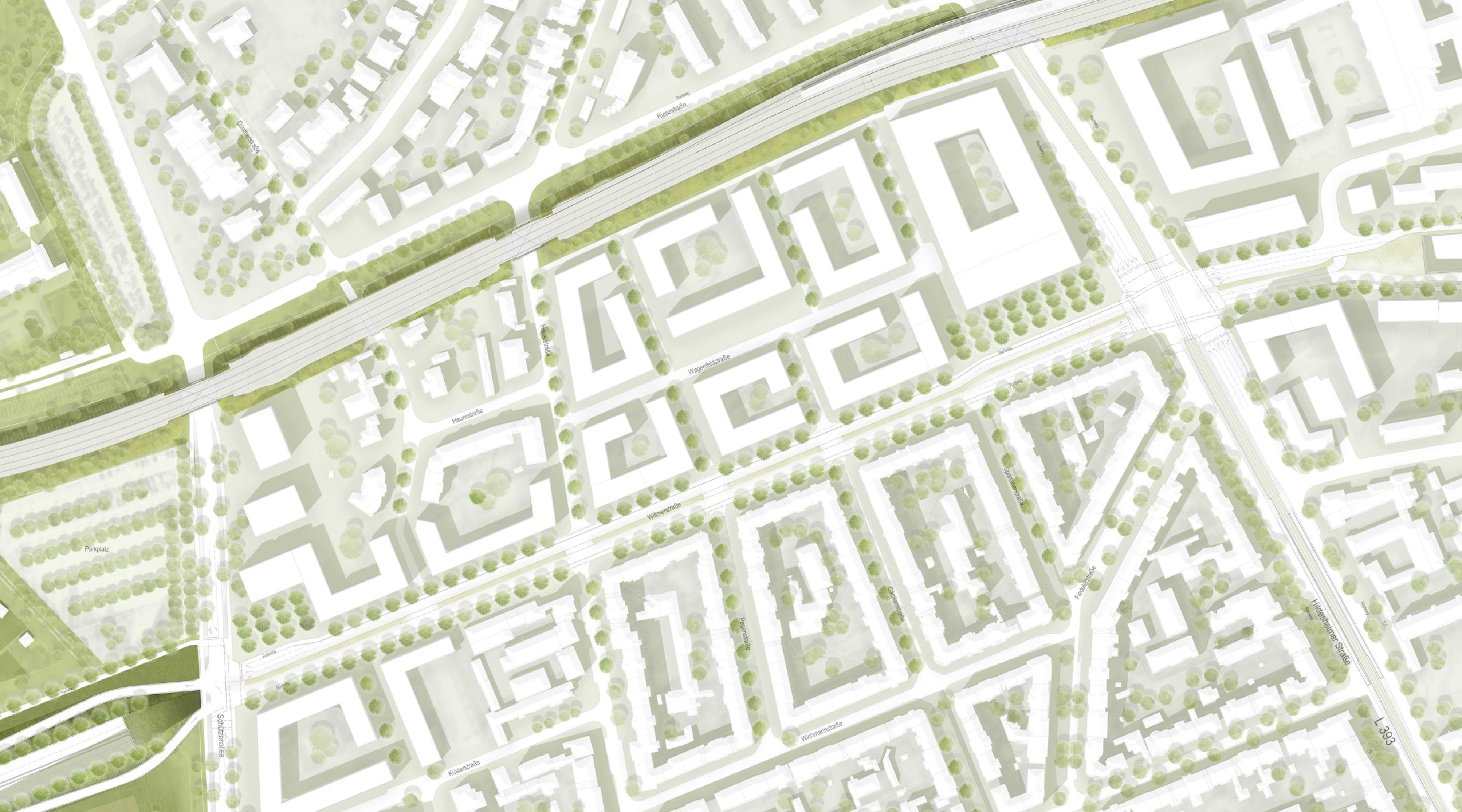 Südschnellweg Hannover Lageplan Stadt