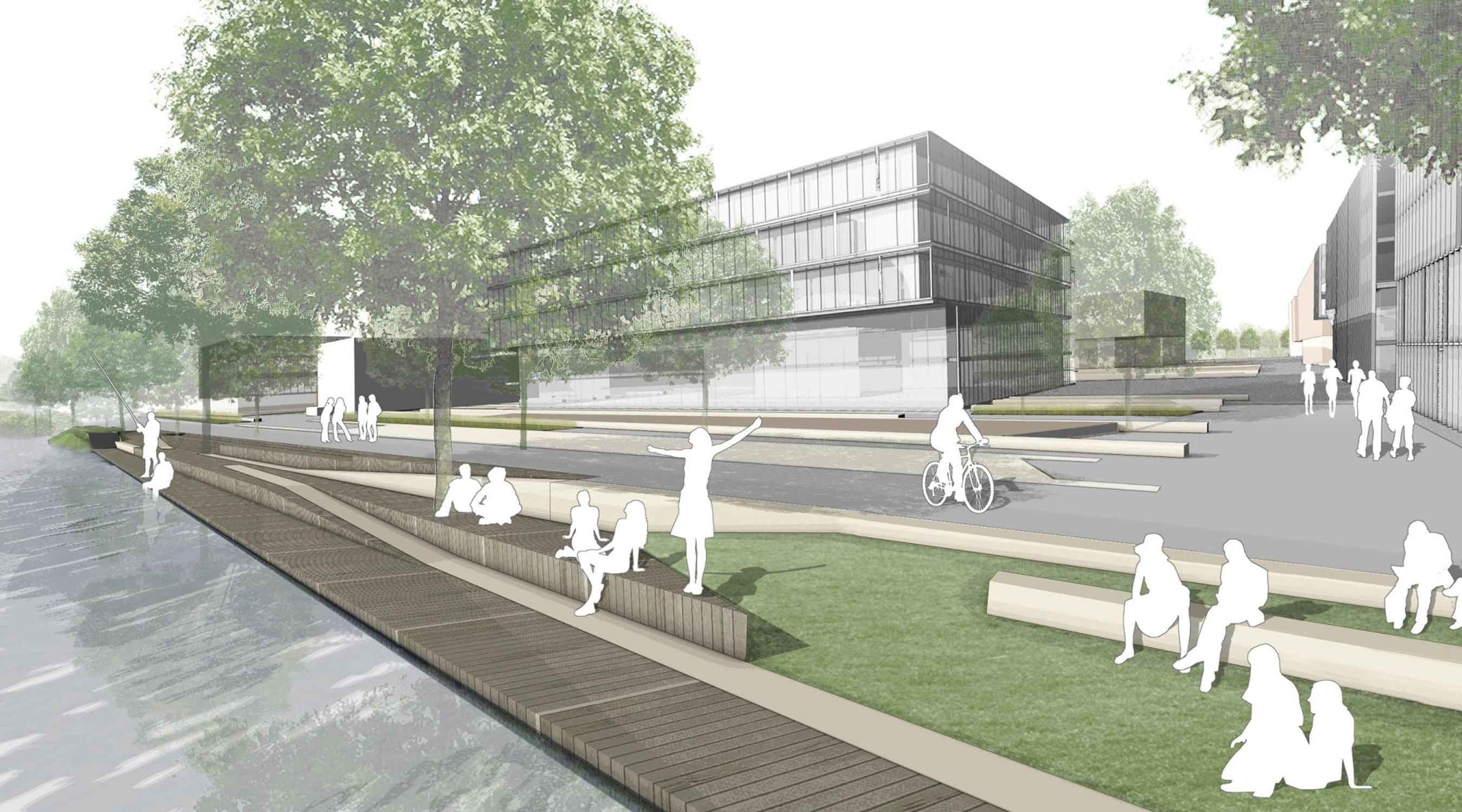 Erweiterung Campus-West TU Berlin Landwehrkanal