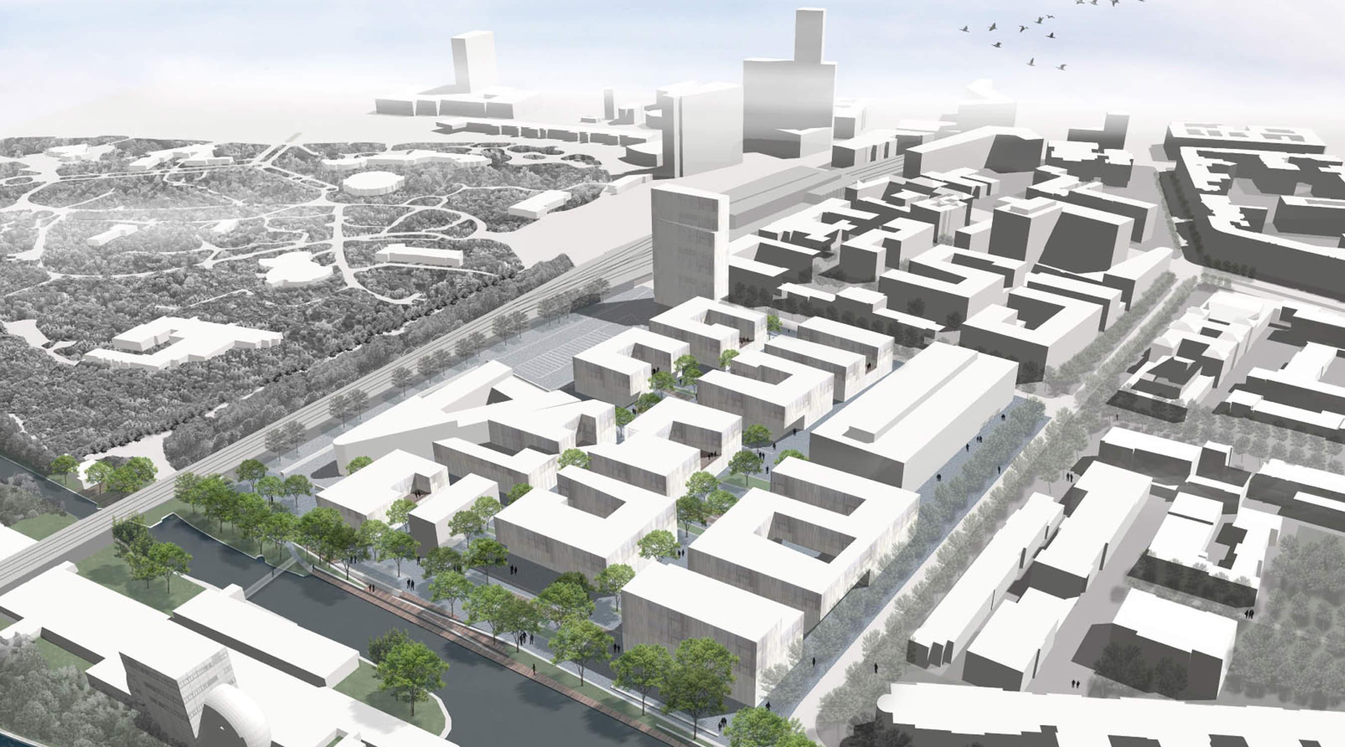 Erweiterung Campus-West TU Berlin Vogeperspektive
