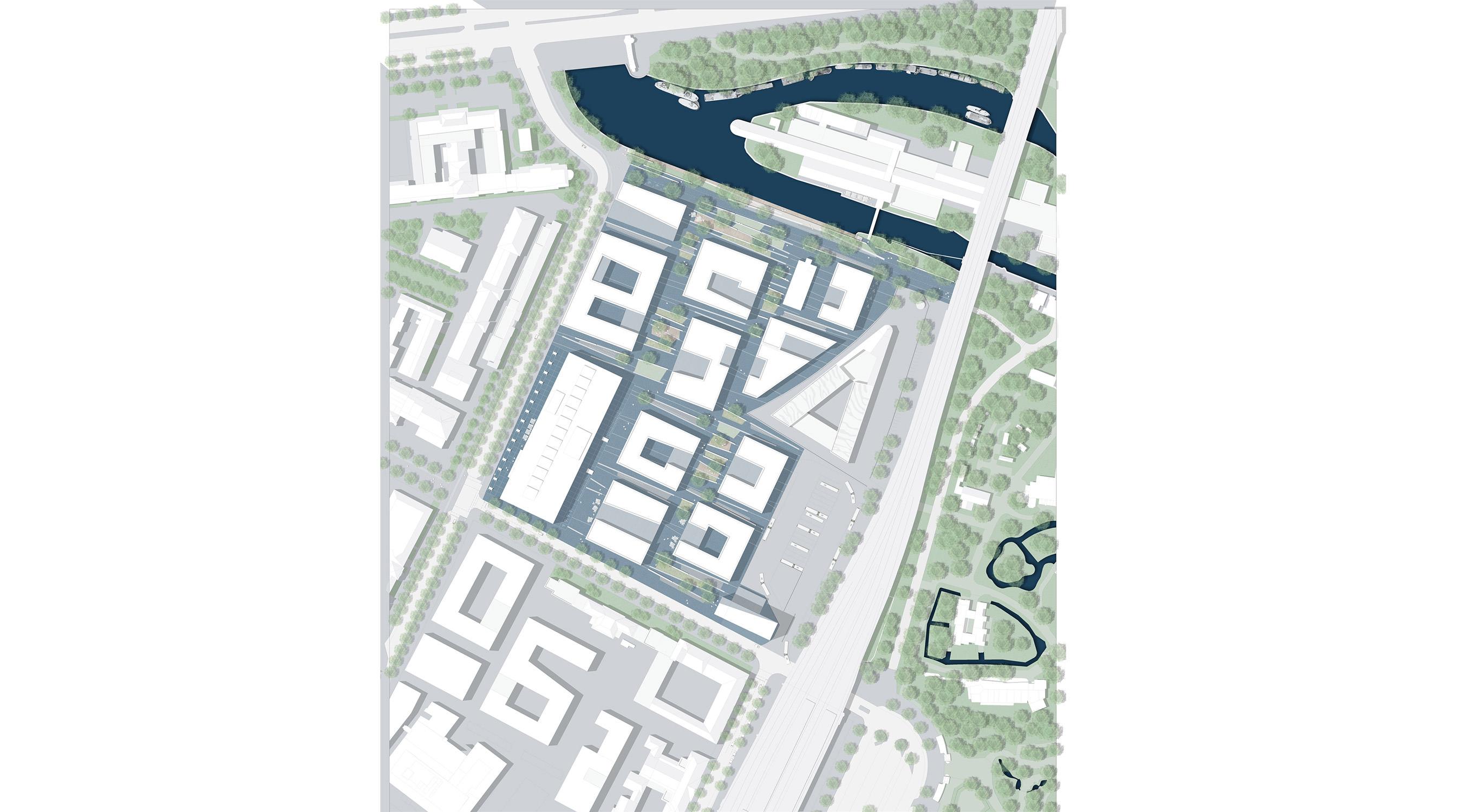 Erweiterung Campus-West TU Berlin Lageplan