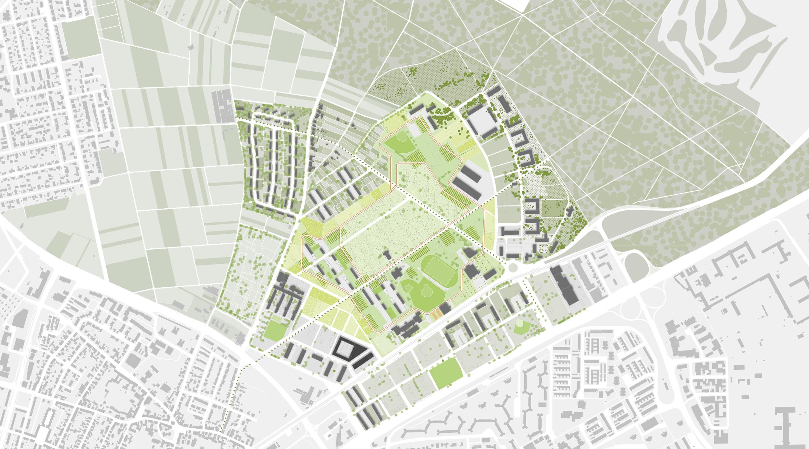 Benjamin-Franklin-Village Mannheim Lageplan I