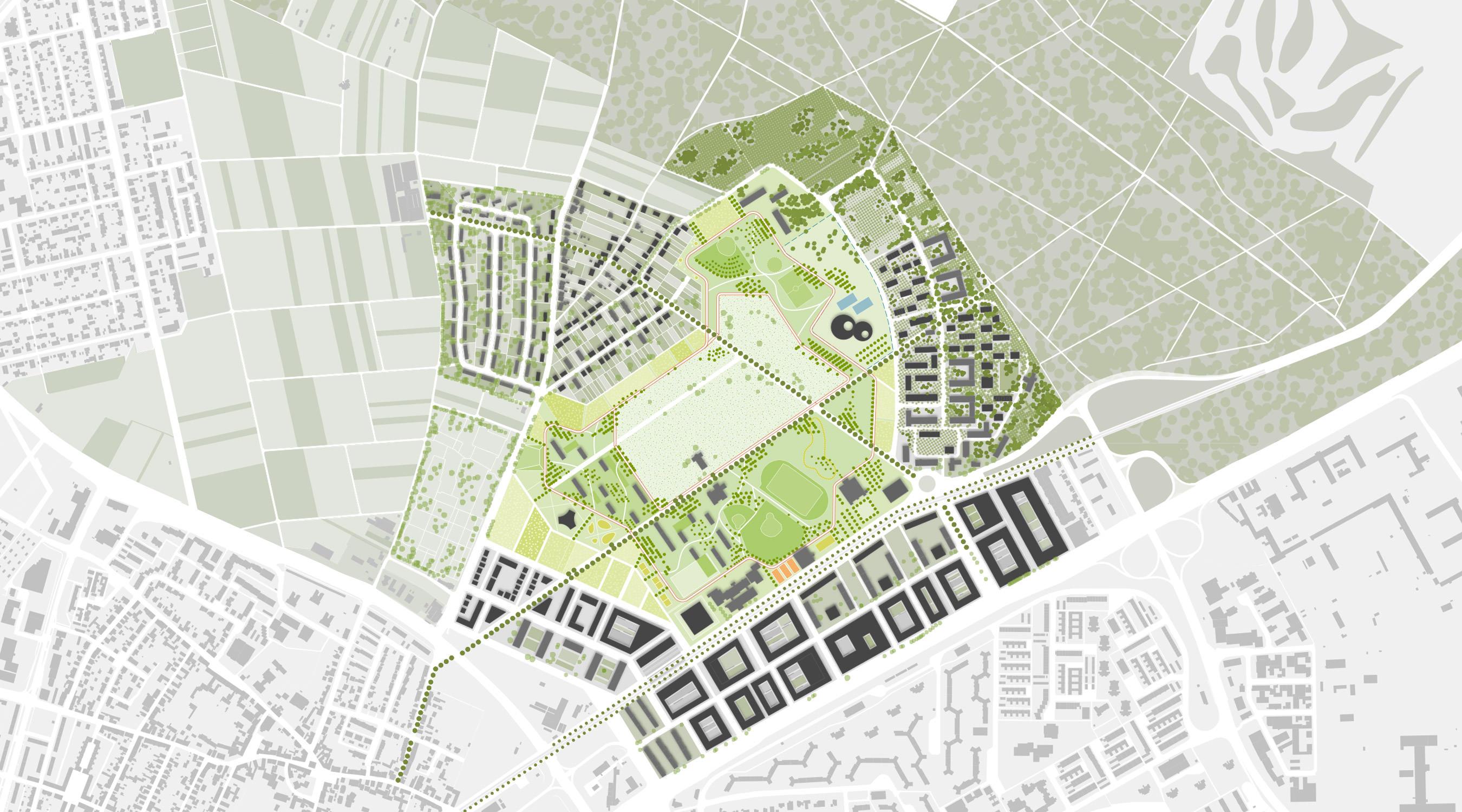 Benjamin-Franklin-Village Mannheim Lageplan II