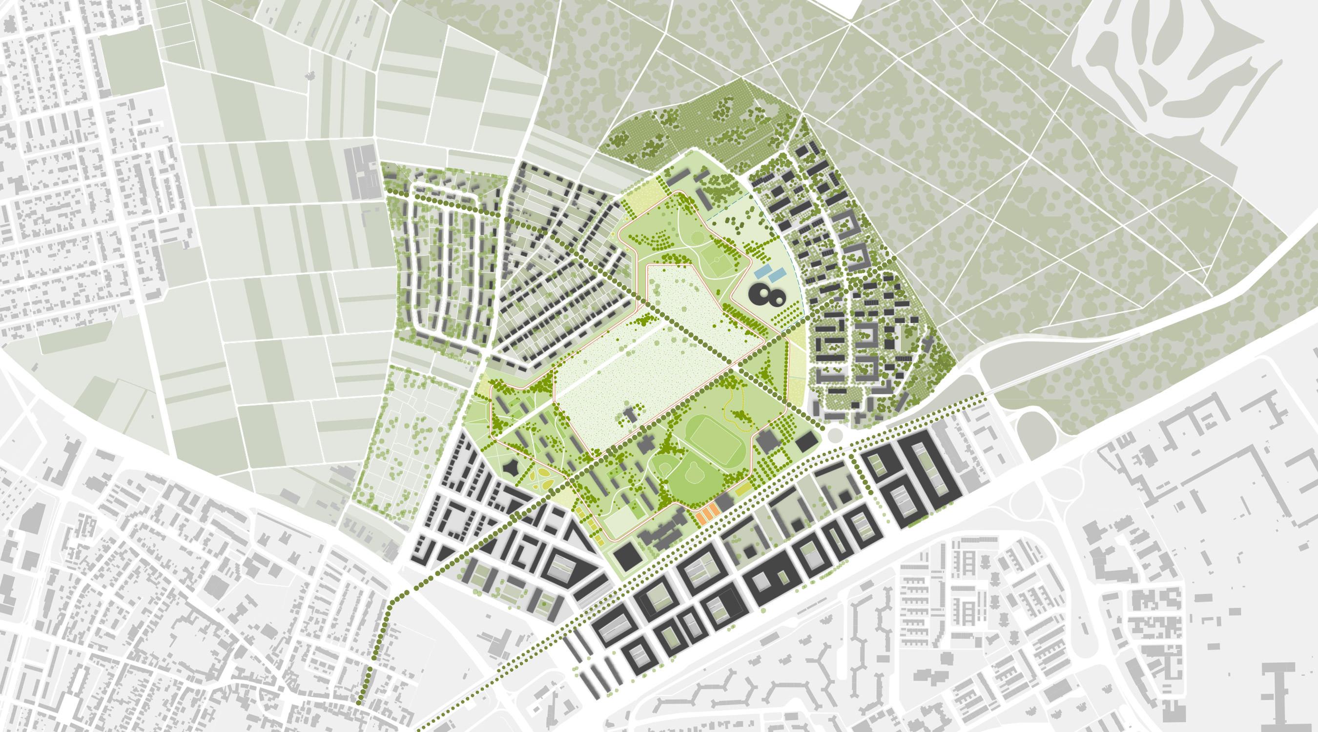 Benjamin-Franklin-Village Mannheim Lageplan IV