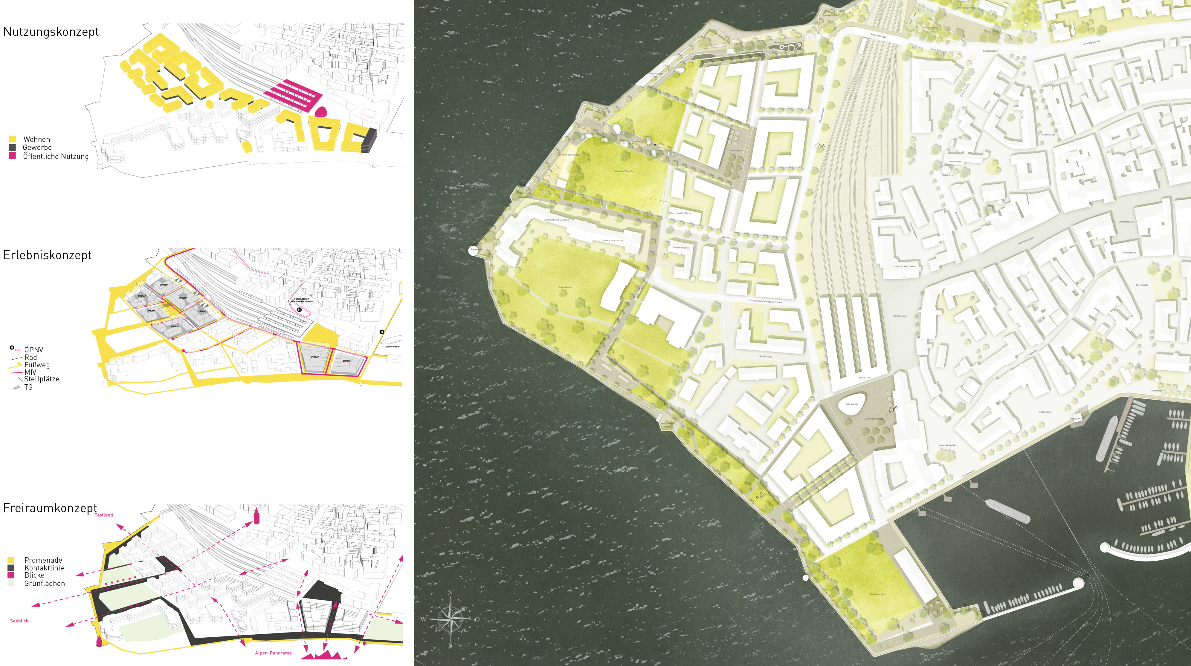 Lindau Hintere Insel Lageplan Städtebau