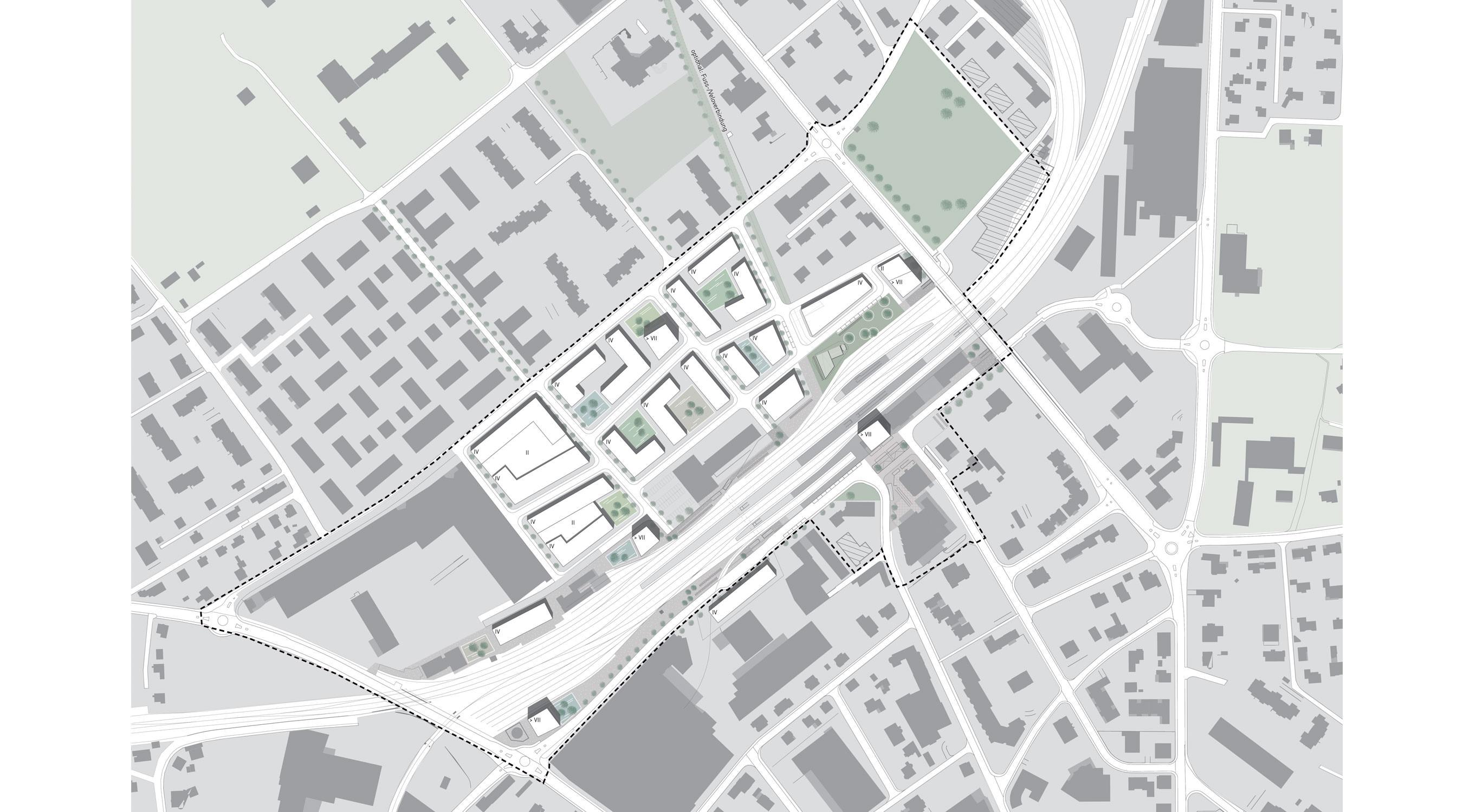 Langenthal Bahnhof Lageplan