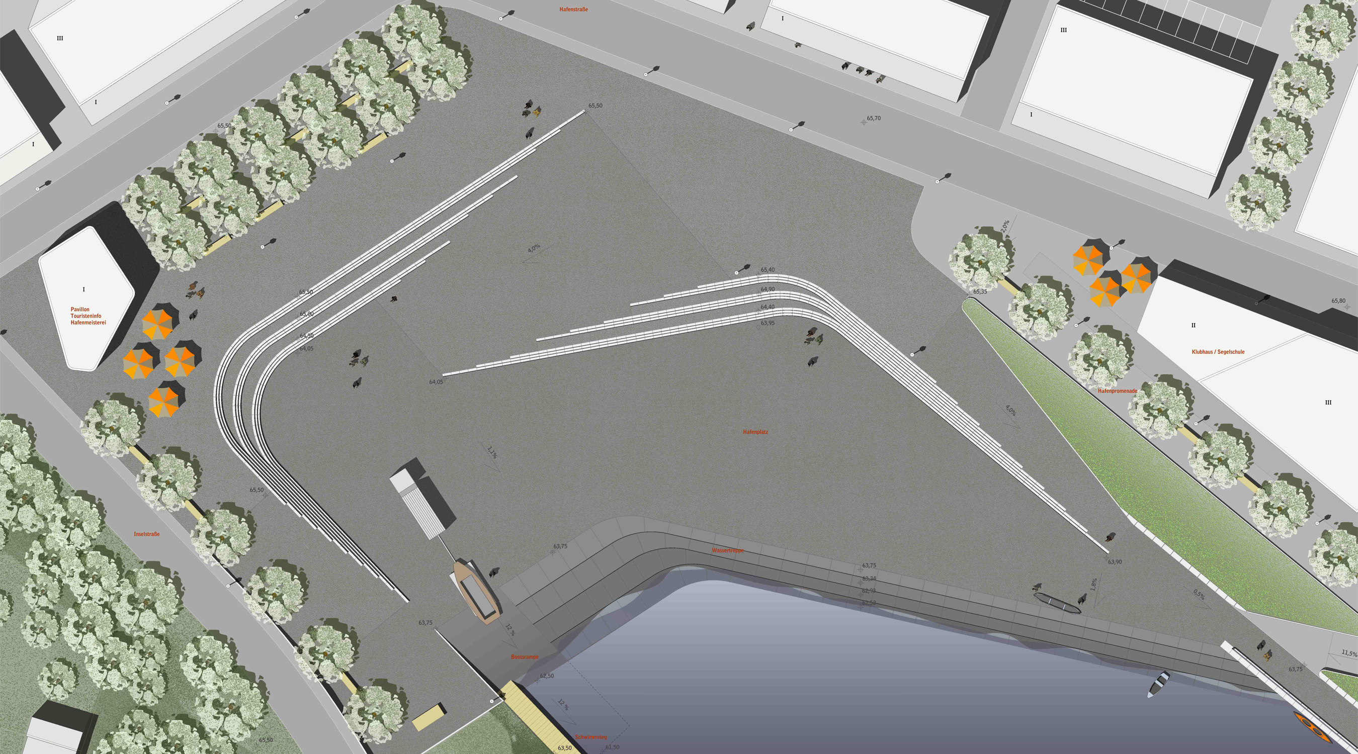 Seehafen Teichland Detailplan