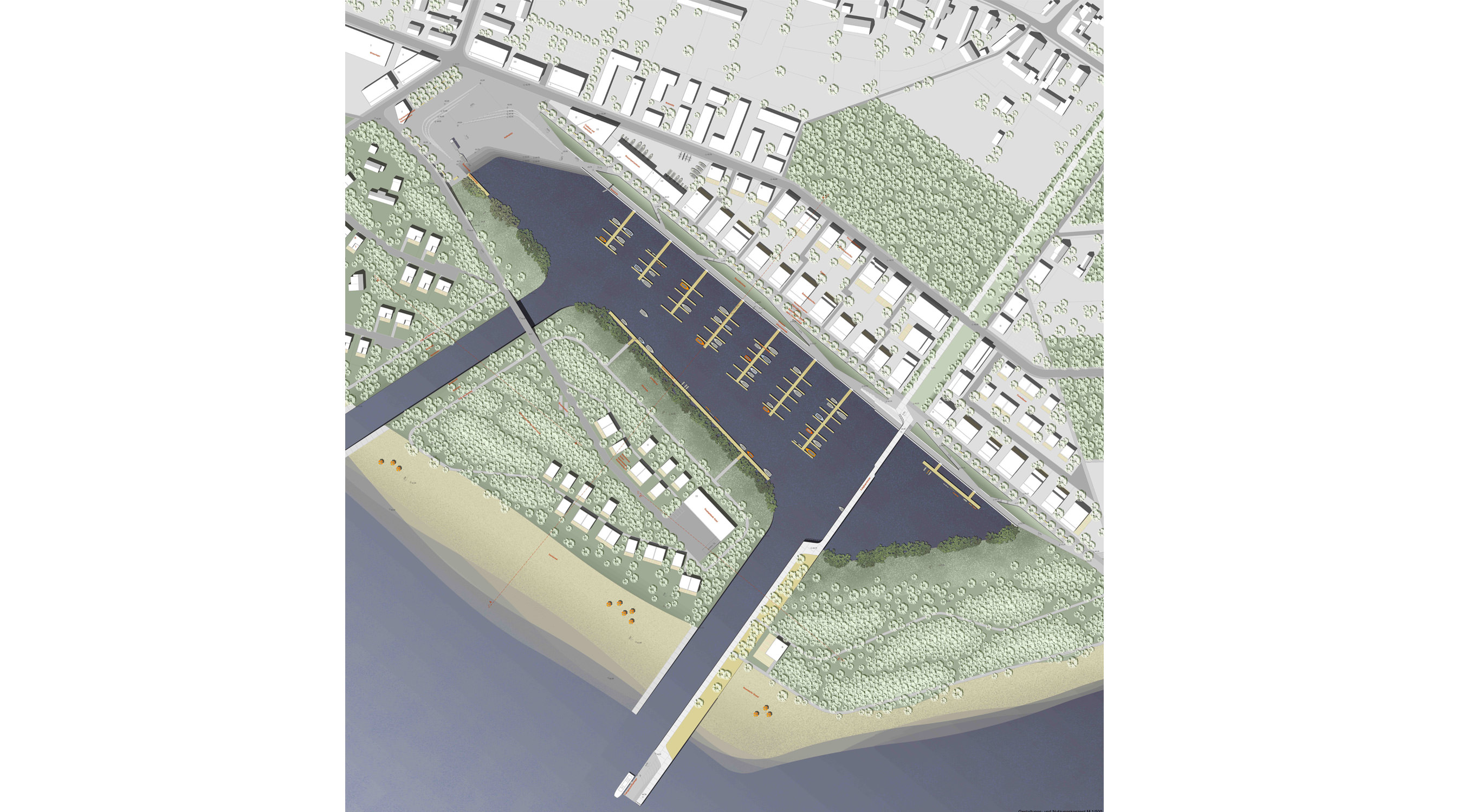 Seehafen Teichland Lageplan