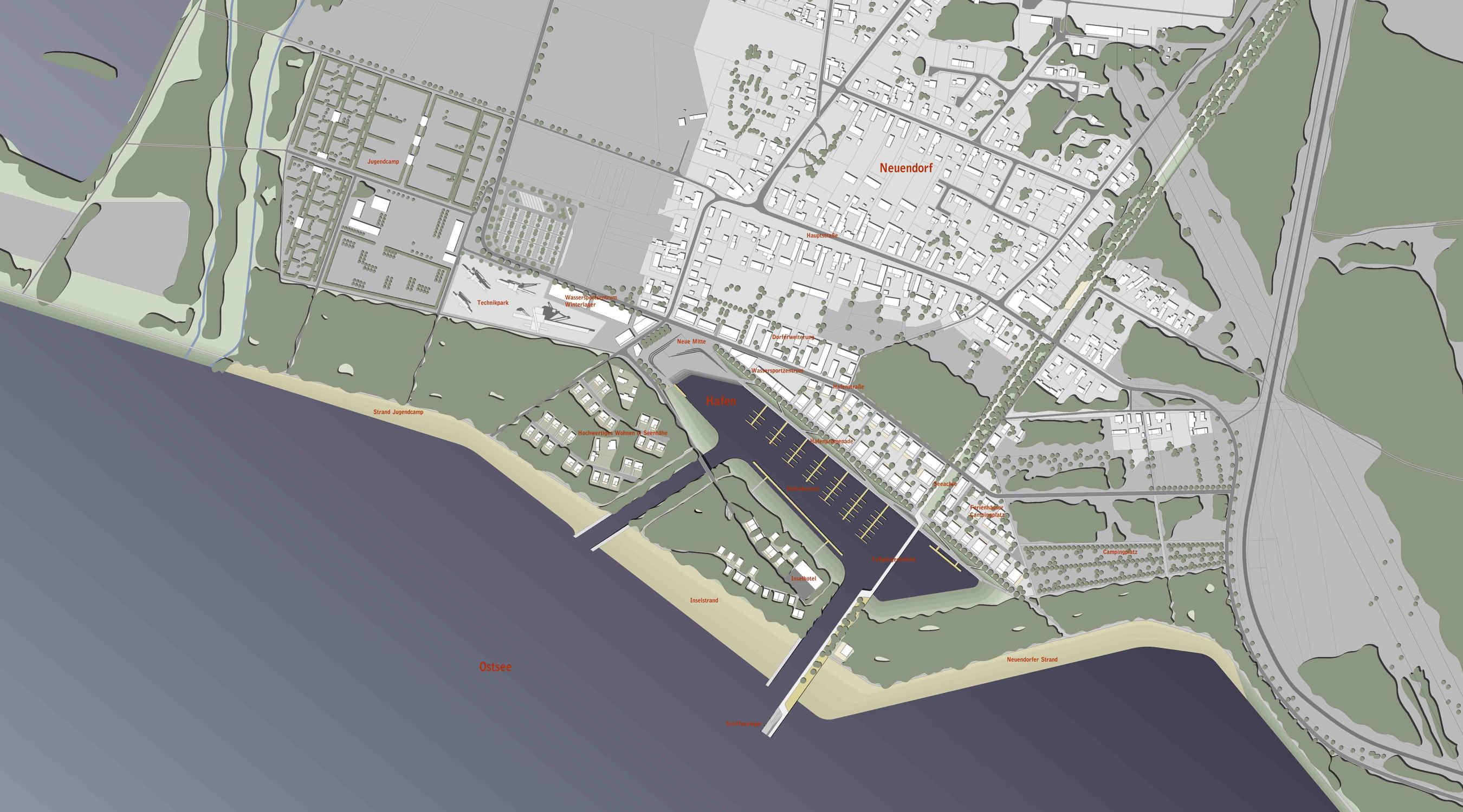 Seehafen Teichland Lageplan gesamt