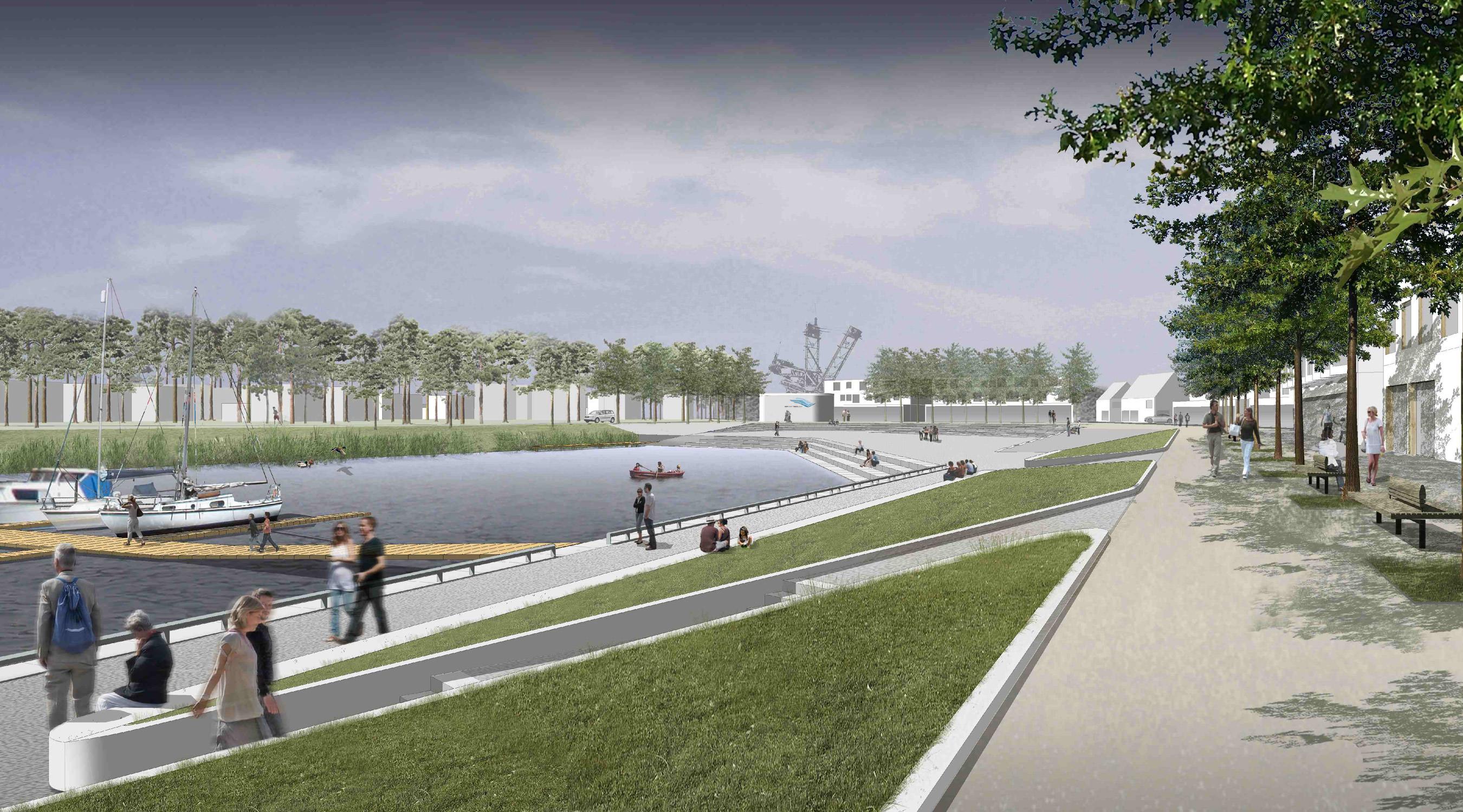 Seehafen Teichland Promenade