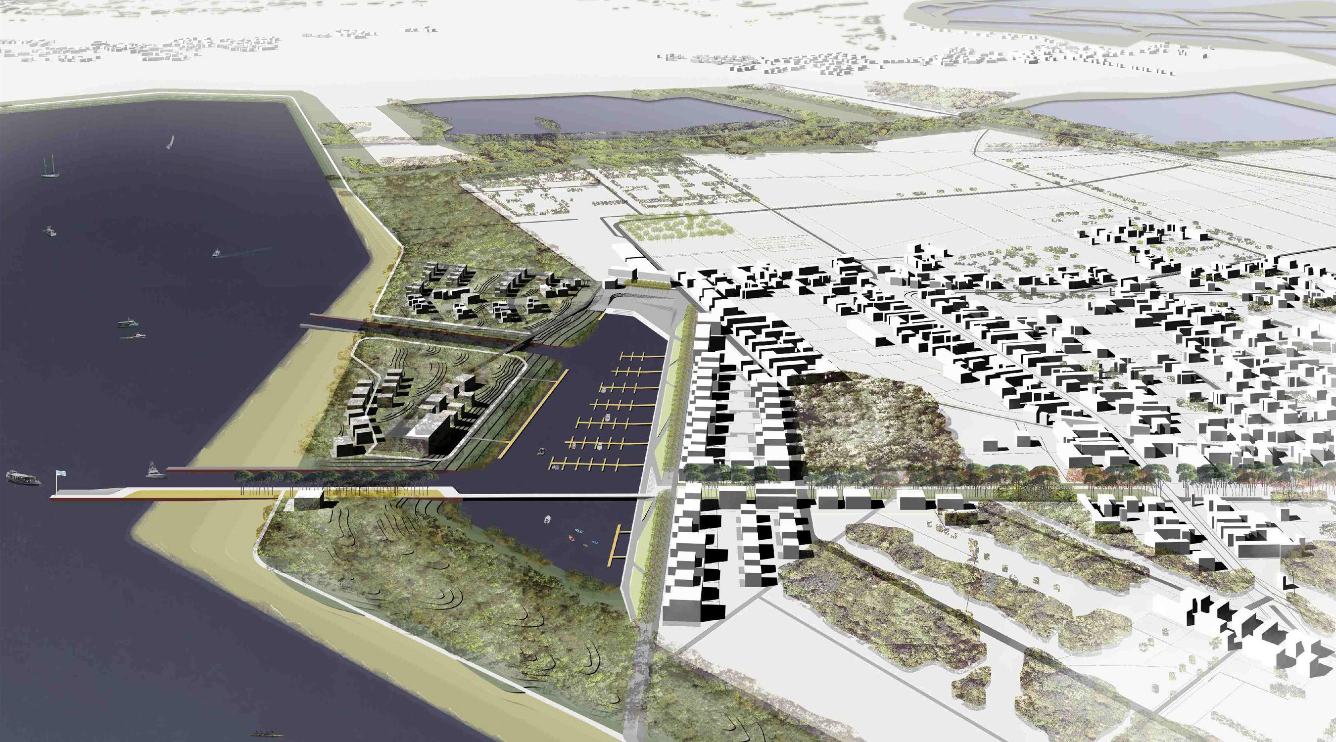 Seehafen Teichland Vogelperspektive