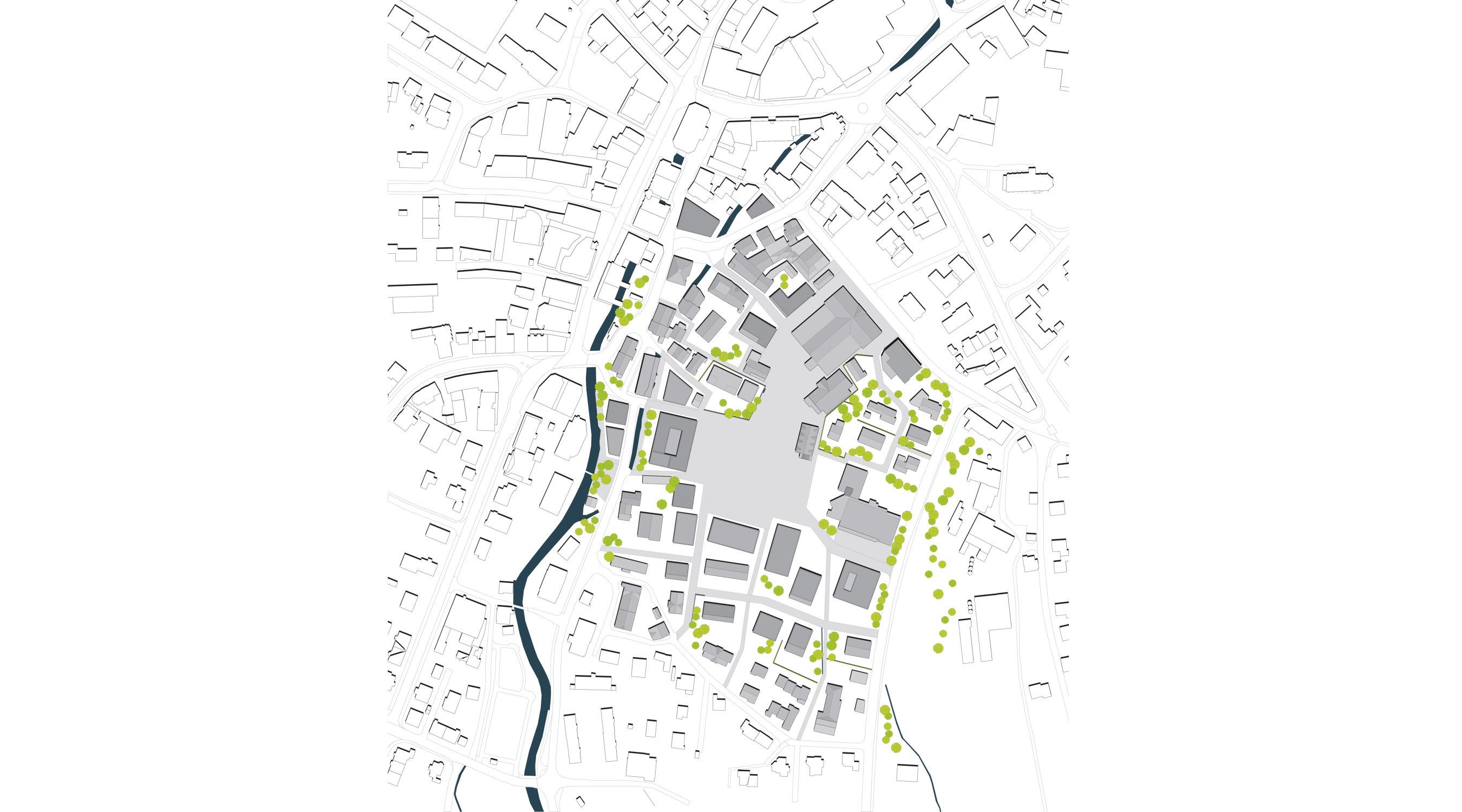 Markhallenareal Langenthal Lageplan