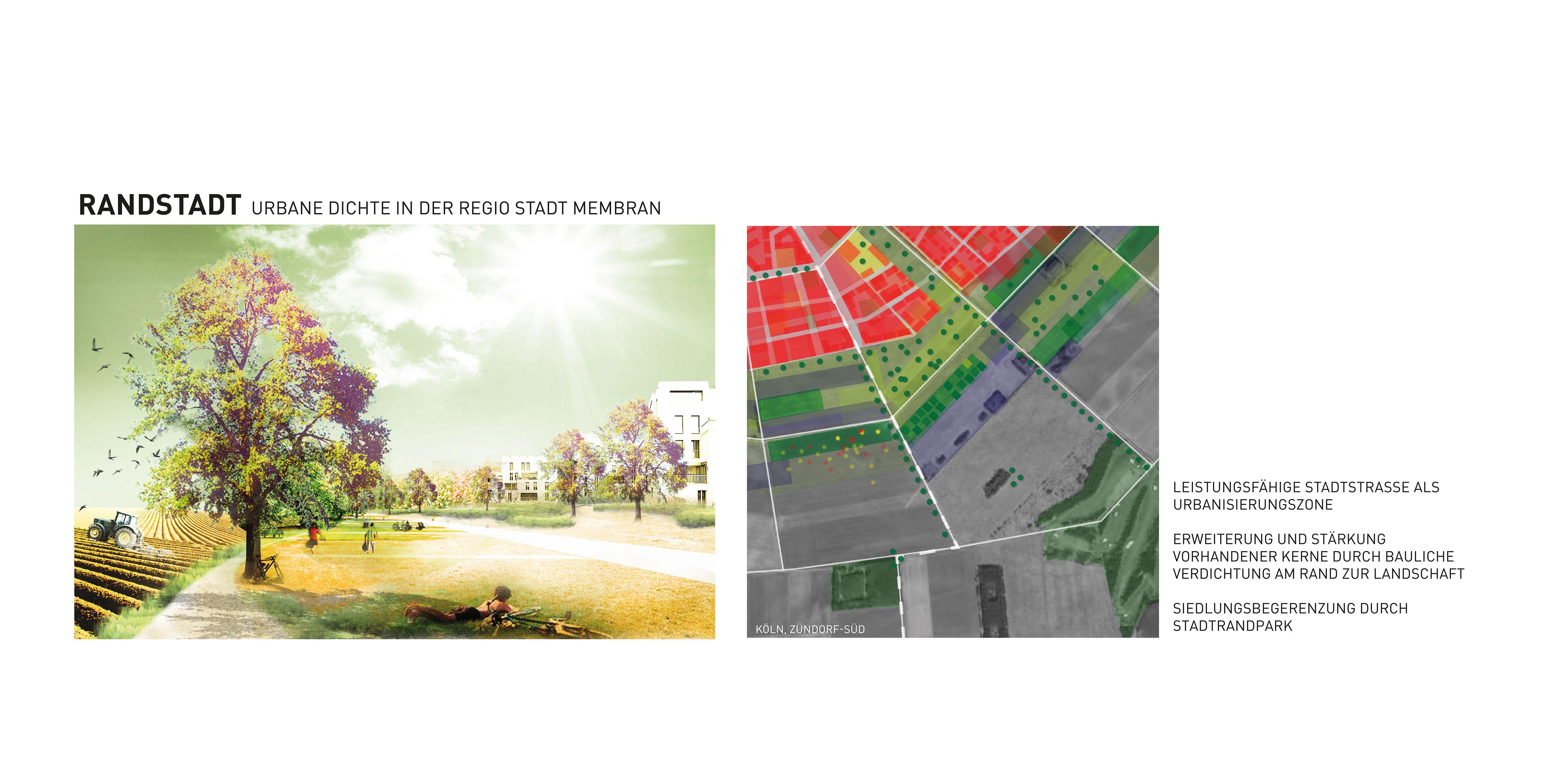 Raumperspektive 2035: Köln und rechtsrheinische Nachbarn Lupe Randstadt Zündorf-Süd