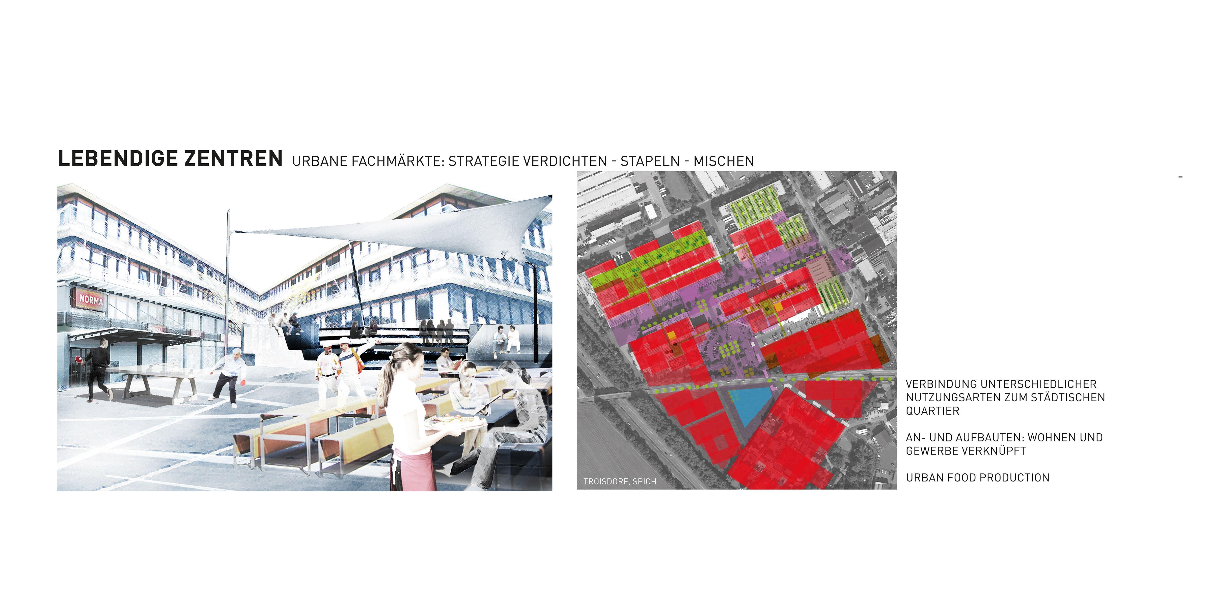 Raumperspektive 2035: Köln und rechtsrheinische Nachbarn Lebendige Zentren Spich