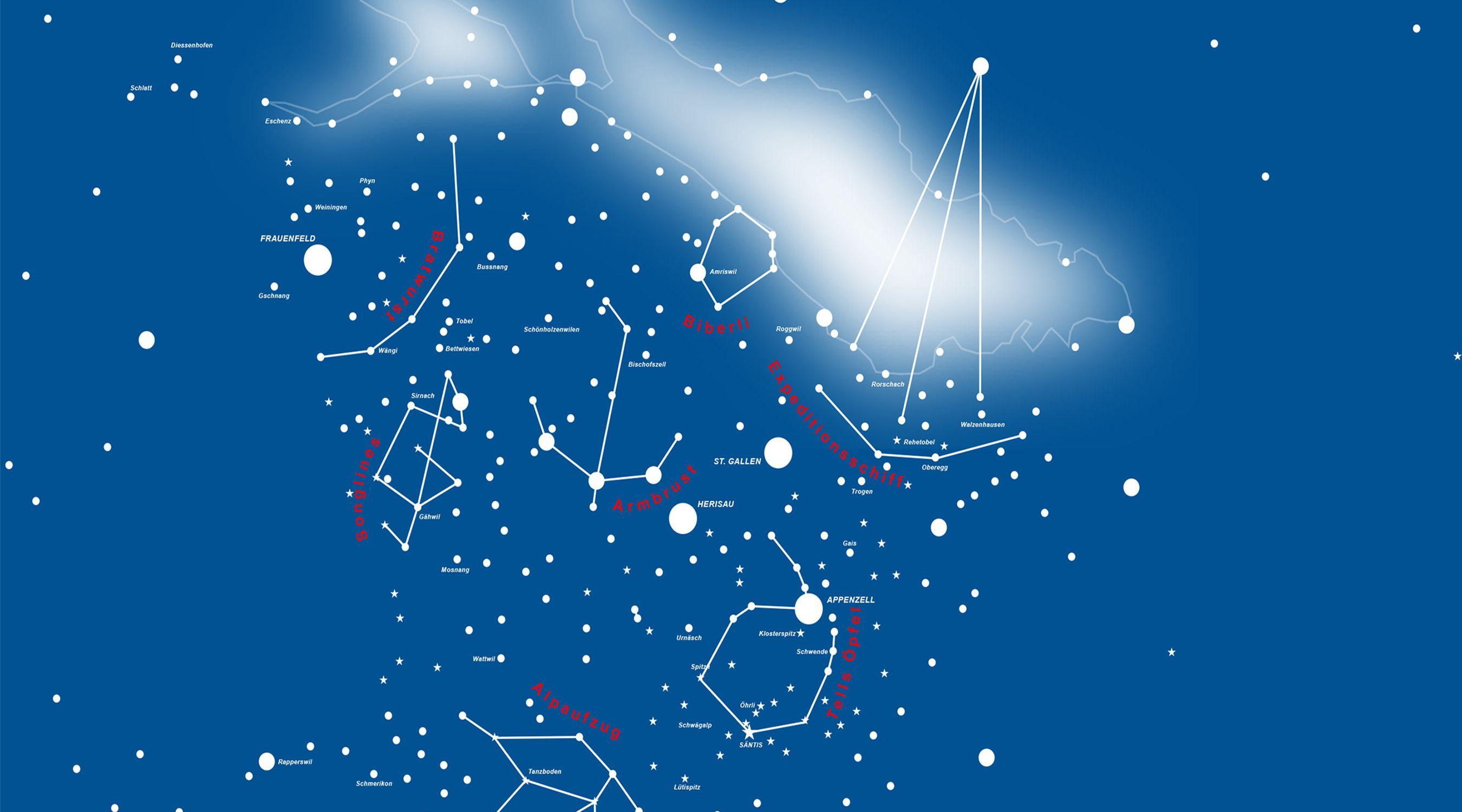 Schweizerische Landesausstellung 2027 Bodensee-Ostschweiz Sternenbild