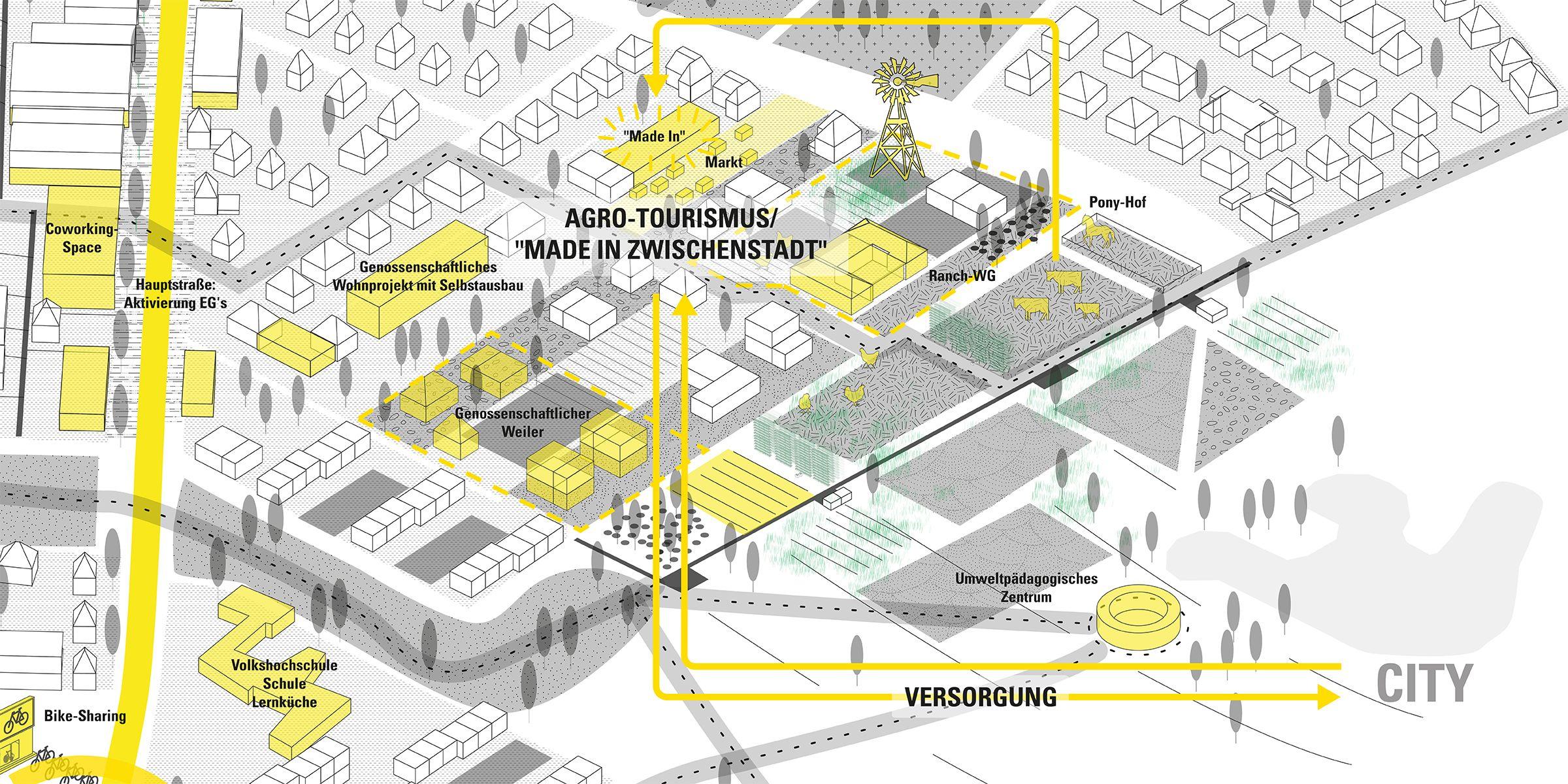 Zukunftslabor Gartenstadt 21 Zwischenstadt MetroGartenstadt Karte