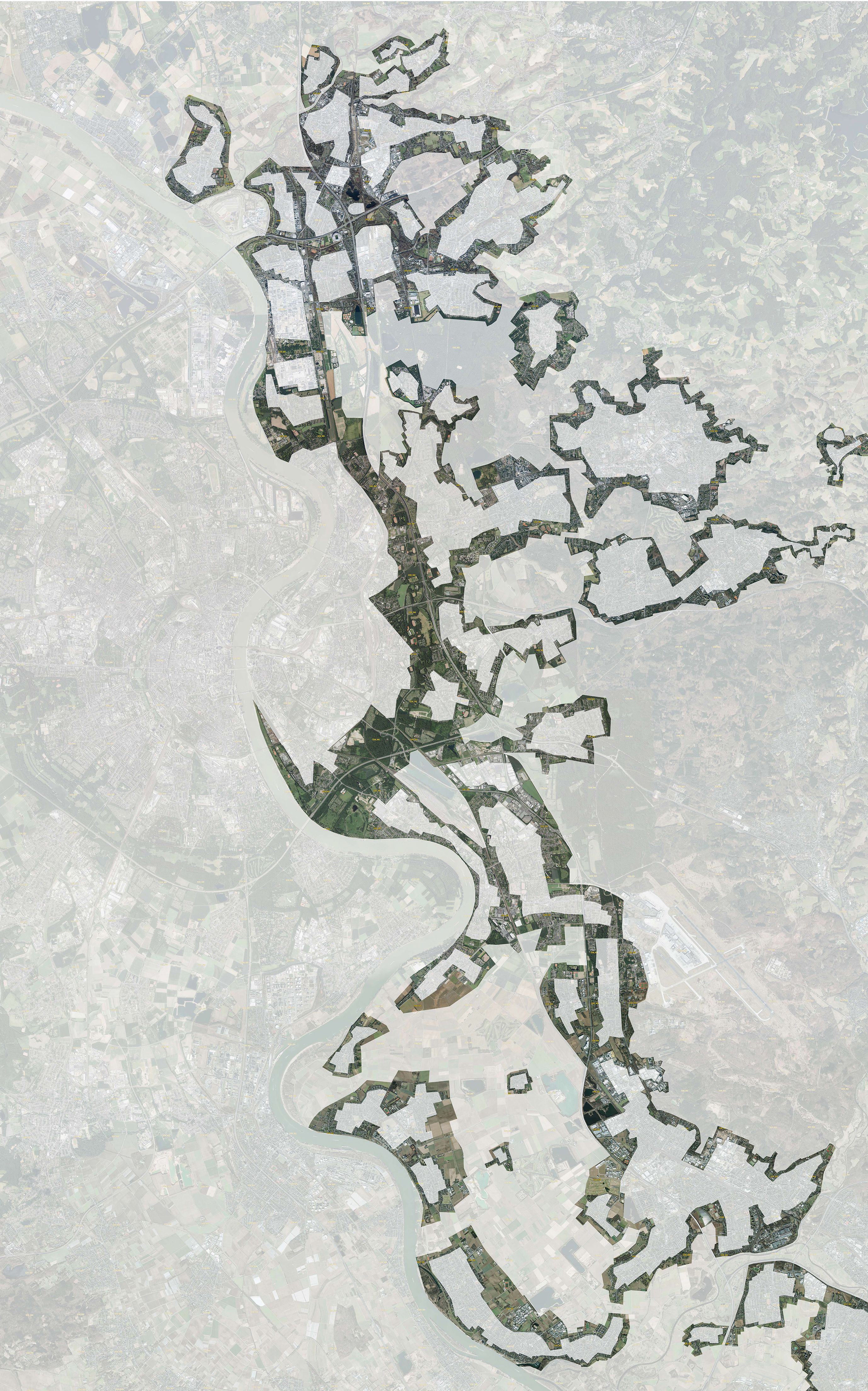 Raumperspektive 2035: Köln und rechtsrheinische Nachbarn Übersichtsplan