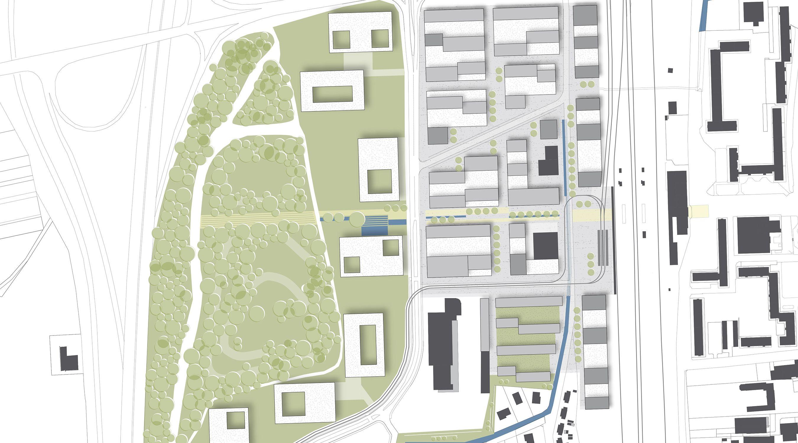 Lageplan Quartier de Lys IBA Basel Saint Louis