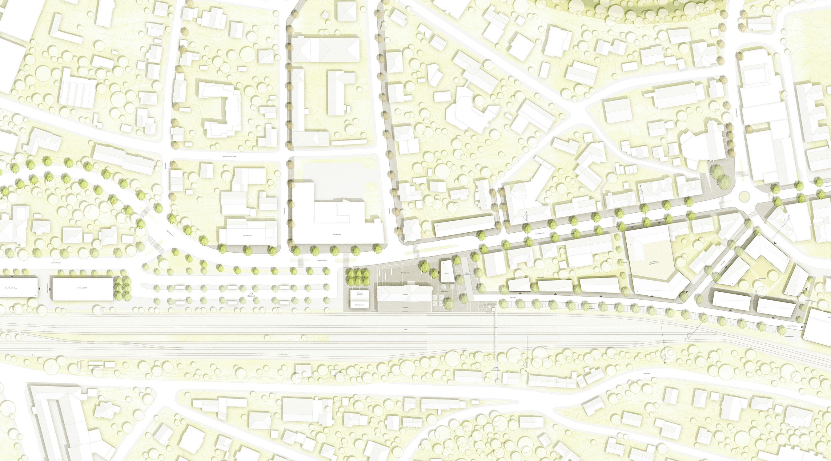 Bahnhofplatz Stadteingang Nord Balingen Lageplan