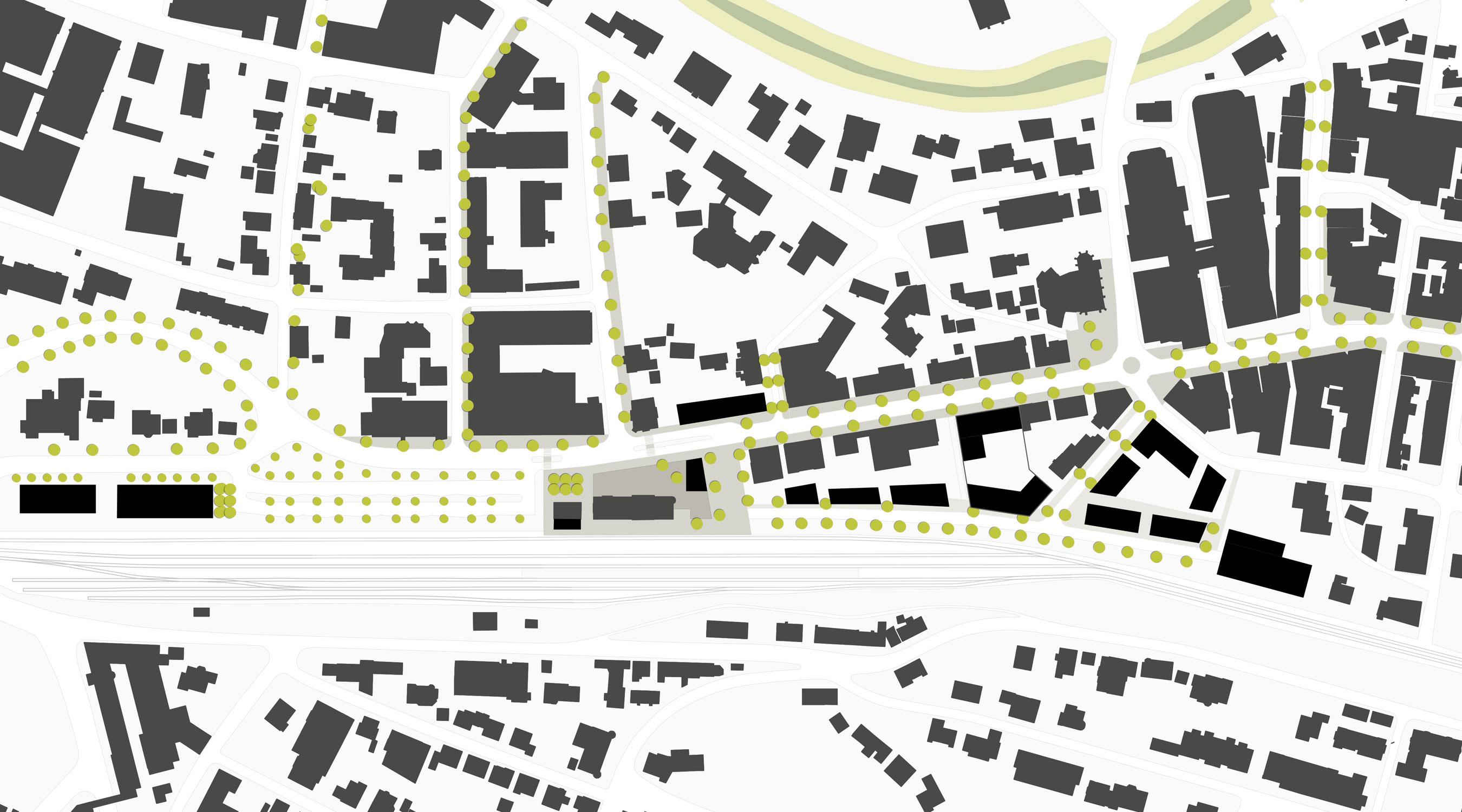Bahnhofplatz Stadteingang Nord Balingen Strukturplan