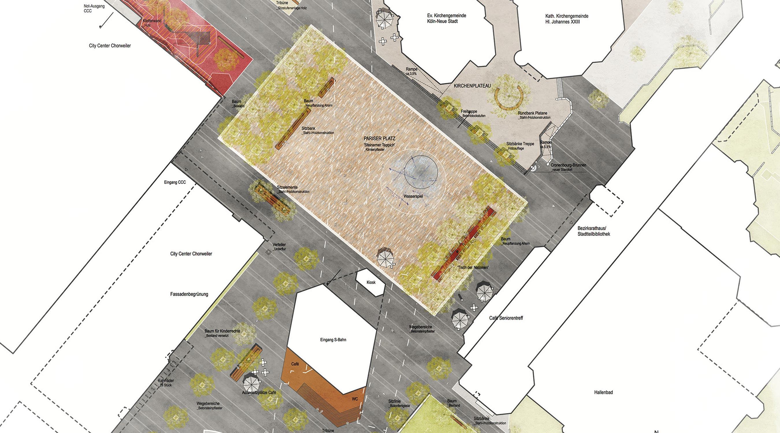 Köln Lebenswertes Chorweiler Lageplan Pariser Platz
