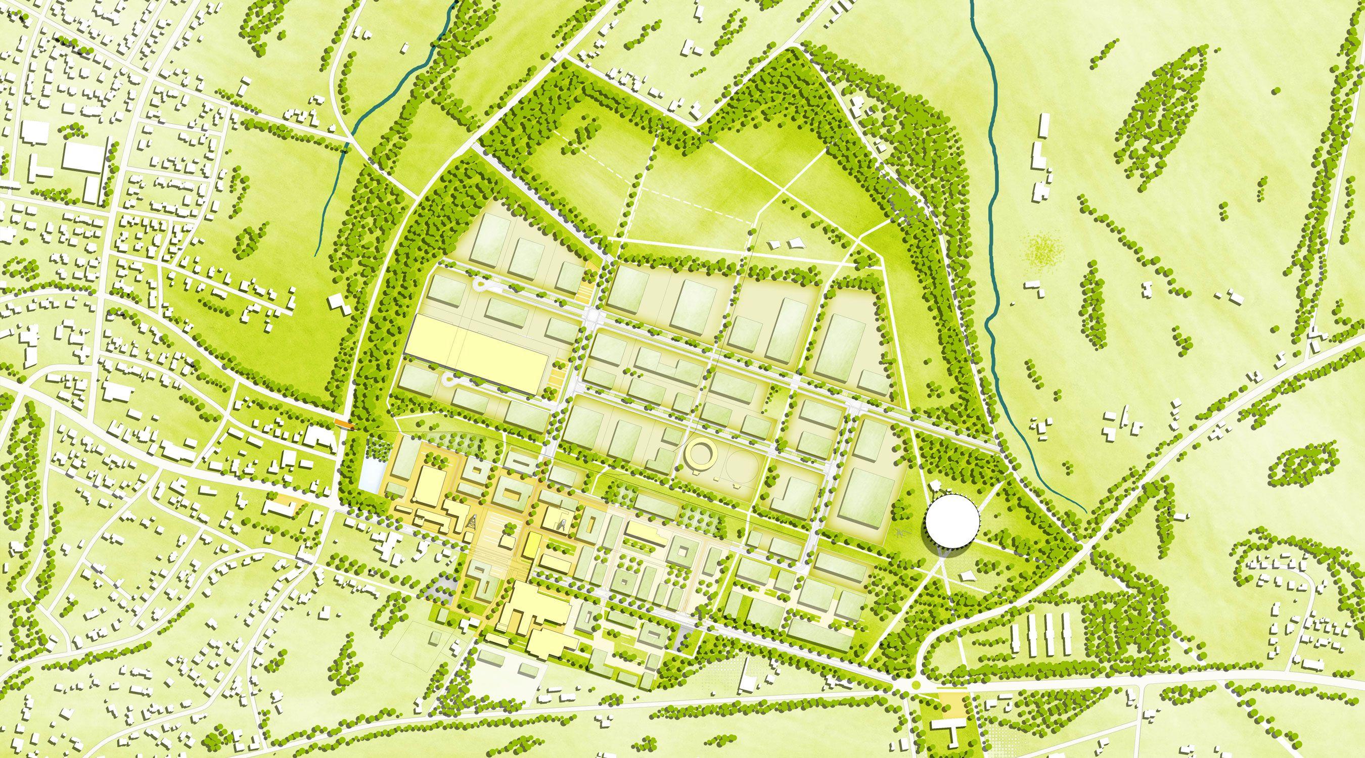 Lageplan von Oeynhausen
