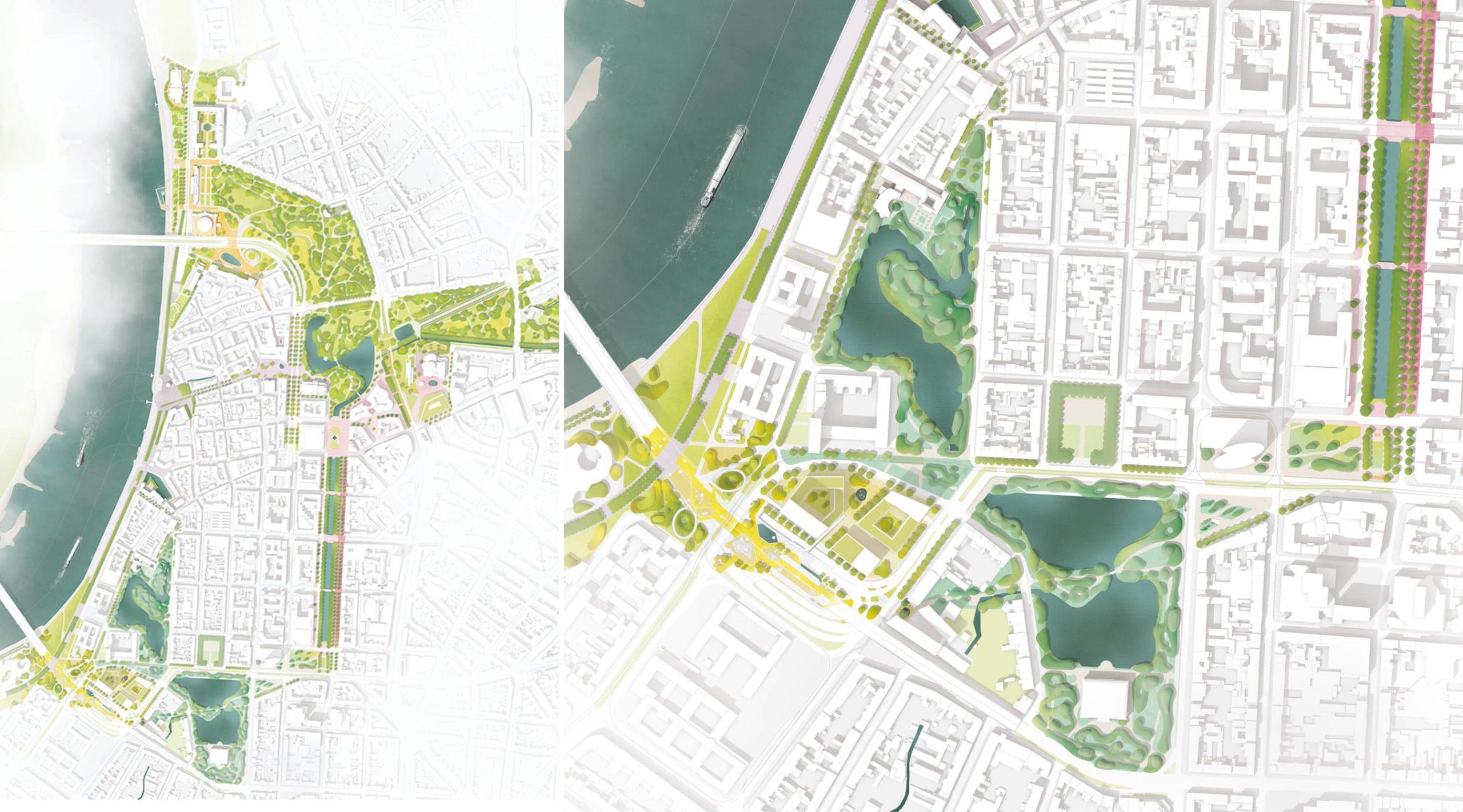 Lageplan und Kulturbrücke
