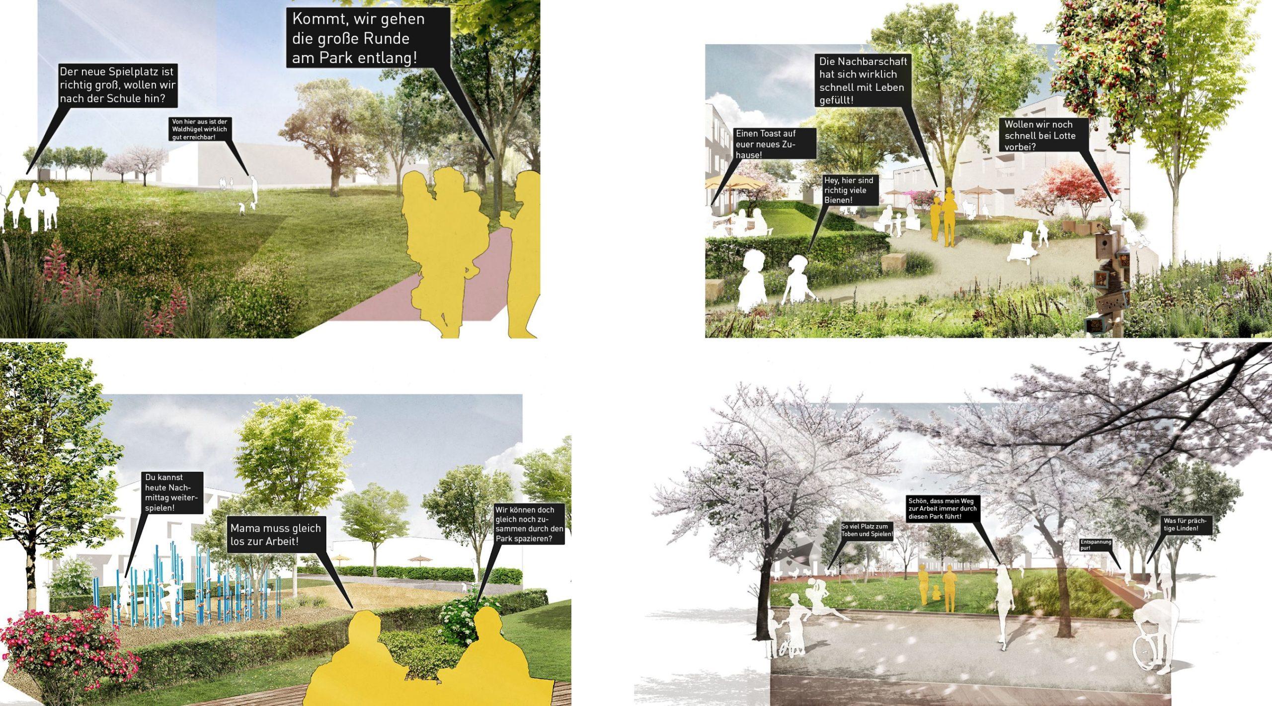 Collage – Ein Tag im neuen Quartier Damloup-Kaserne Rheine